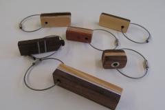 Schlüsselanhänger 2016 (Holz, Metall)